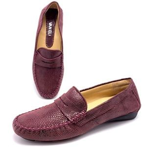 Vaneli Ranon Burgundy Driving Moccasins Loafers